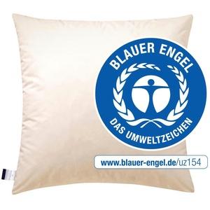 Federkopfkissen, E14 Greta, billerbeck, (1-tlg), Das Kissen mit dem blauen Engel 80 cm x 80 cm
