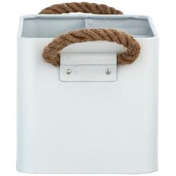 WENKO Aufbewahrungsbox Gara (Set, 2 Stück) weiß Ablagen Aufbewahrung Bad-Accessoires Bad Sanitär Aufbewahrungsboxen
