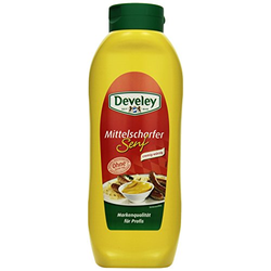 DEVELEY Mittelscharfer Senf, 4er Pack (4 x 875 ml)