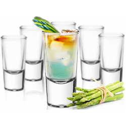 Sendez Schnapsglas 24 Schnapsgläser Tequilagläser Gläser Schnapsglas Stamper Shots Wodkagläser Klar, Glas