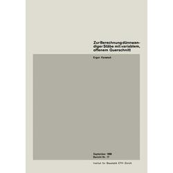 Zur Berechnung dünnwandiger Stäbe mit variablem offenem Querschnitt als Buch von E. Karamuk