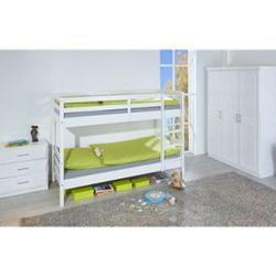 Ancki Landhaus 90x200 Etagenbett weiß Doppelstockbett Doppelbett Kinderbett Bett