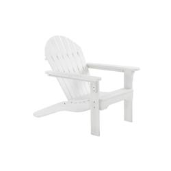 Raburg Gartenstuhl Gartensessel ADRIA Premium Light in WEIß - Akazie Hartholz, lackierter XXL Design-Gartenstuhl Canadian Adirondack Deck-Chair / Hamburger Alsterstuhl