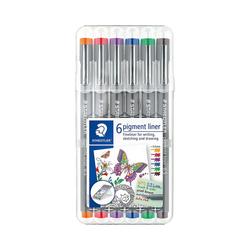 STAEDTLER Fineliner Fineliner pigment liner Box 0,5 mm, 6 Farben