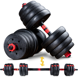 Sportstech Hantel AH150, 20kg, 22,5 kg, (Spar-Set, 15-tlg., mit Langhantelstange)