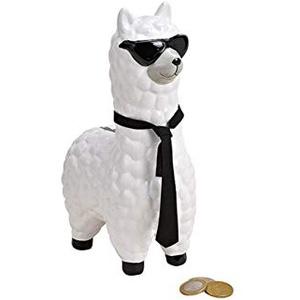 Wurm 1 Spardose Lama mit Sonnenbrille aus Keramik weiß schwarz ca 9 x 24 x 14 cm Material: Keramik Größe: ca 9 x 24 x 14 cm Lieferumfang: 1 Stück