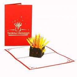 Colognecards Pop-Up Karte Kerzen Herzl. Glücksw.