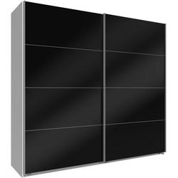 Wimex Schwebetürenschrank Easy mit Vollglas weiß 180 cm x 210 cm x 65 cm