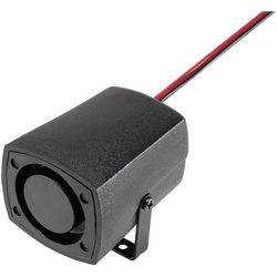 Piezo-Signalgeber Geräusch-Entwicklung: 100 dB Spannung: 24V Sirenenton 1St.