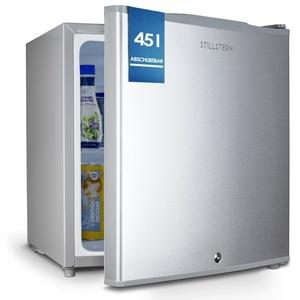 Stillstern Table Top Kühlschrank KB 46.2, Mini Kühlschrank E 45L mit Abtauautomatik, Schloss, Frostfach, Leise, Ideal für Küche, Büro, Schlafzimmer, Hotels und kleine Wohnungen Kühlschrank klein Minibar Getränkekühlschrank