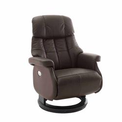 Leder Relaxsessel elektrisch verstellbar Braun