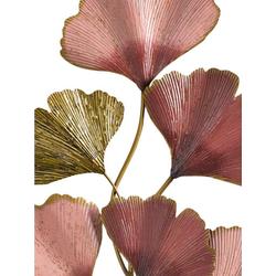 Wanddeko Ginkgo Blätter goldfarben