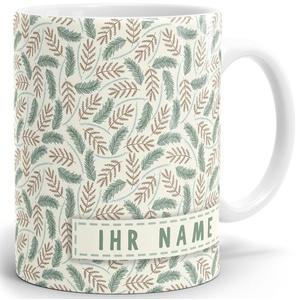 Drucksaal Namenstasse-Tasse-Becher-Kaffeetasse-mit Name-mit Namen individuell und persönlich Motiv Tag im Wald Tasse mit Panoramadruck