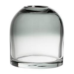 Bloomingville Vase graues Glas 12x13cm