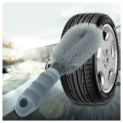 Autowaschbürste Premium Felgenbürste für eine effektive Reinigung bis tief ins Felgenbett,, IVSO, Felgen Bürste zur schonenden Pflege von Stahl- und Alufelgen - Felgenbürste Alufelgen, Felgenbürste lang