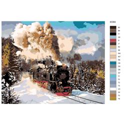 """Malen nach Zahlen """"Sibirische Eisenbahn"""", 40x50cm, KTMK-83364"""
