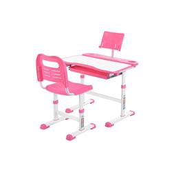 Sross Kinderschreibtisch Kinderschreibtisch Schreibtisch Verstellbare Neigung Kinderschreibtisch mit Stuhl rosa