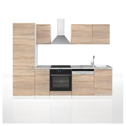 Vicco Spülenunterschrank Küche 270 cm Küchenzeile Küchenblock Einbauküche Sonoma