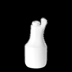 500 ml bauchige Sprühflasche - weiß - DIN 28