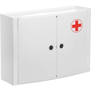 TATAY 4480209 Medizinschrank, horizontal, 2 Türen, aus Kunststoff, weiß, 46 x 15,5 x 32 cm
