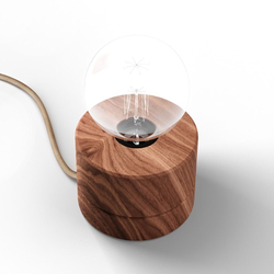 Holz Tischlampe Ø11cm in 3 Holzarten