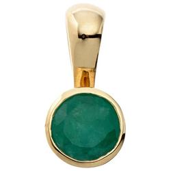 JOBO Runder Anhänger, rund 333 Gold mit Smaragd