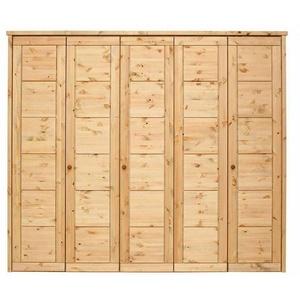 Massivholz Kleiderschrank 5-türig Kiefer gelaugt geölt Schlafzimmer schrank