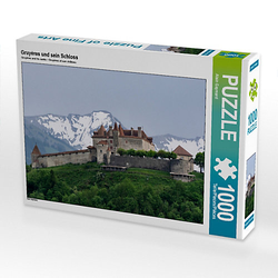 Gruyères und sein Schloss Lege-Größe 64 x 48 cm Foto-Puzzle Bild von Alain Gaymard Puzzle