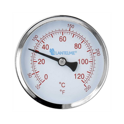 Lantelme Raumthermometer 120 Grad Heizungsthermometer, 3-tlg., rot, Anzeige 6,5cm rot
