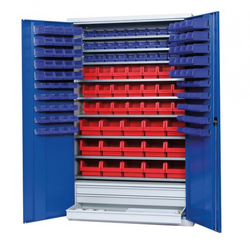 LA-KA-PE Regalschrank S2000 RAL 7035  5010 Schrank mit Türen ohne Kästen S2000 04 52
