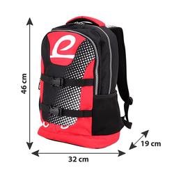 BESTLIFE Rucksack MERX schwarz/rot mit Laptopfach bis 15,6 Zoll