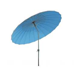 Forma Outdoor Living ASIA Sonnenschirm Ø 270cm knickbarer Kurbelschirm rund hellblau 1003689