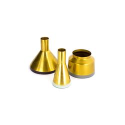 Kayoom Vase Culture 140 in gold-mint-pflaume-grau, 3er-Set