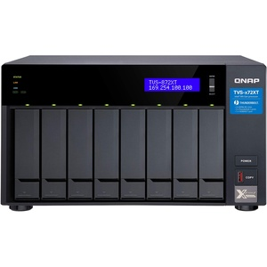 QNAP TVS-872XT-i5-16G NAS, Intel Core i5 8400T 6-Core 1,7 GHz Prozessor (Turbo bis zu 3,3GHz), 16GB RAM (8GBx2)
