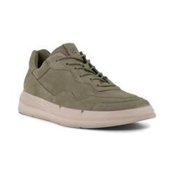ECCO Soft X Sneaker, Damen, Größe: 41 Normal, Grün, Leder, by Lands' End, Vetiver Grün - 41 - Vetiver Grün
