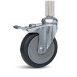 Lenkrolle Metall mit Feststellbremse, Meiko, 125 mm
