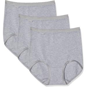 Sloggi Damen Taillenslip Basic+ Maxi (3er Pack), Grau (Grey Combination M), 40 EU