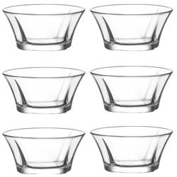 """LAV Dessertschale Glasschalen Dessertschalen """"Truva"""" 6 tlg, Glas, (Set, 6-tlg) beige"""