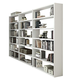 Wohnzimmerregal in Weiß 275 cm breit