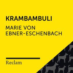 Ebner-Eschenbach: Krambambuli als Hörbuch Download von Marie von Ebner-Eschenbach