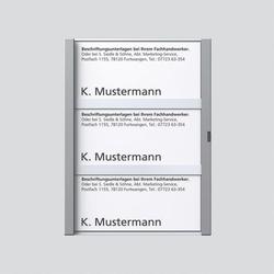Siedle TM 611-3, BTM 650-3 SM Namensschild komplett (200029045-00)