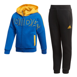 Adidas Kinder Jogginganzug LK FZ HDY SET - ROYBLU/BLACK