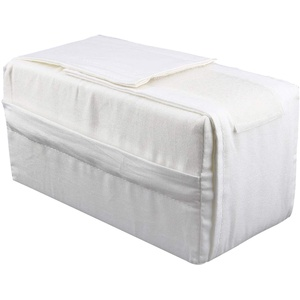 Yosoo Baumwolle Beinkissen Knie Support Pillow Venenkissen für Beinhochlagerung, 20 x 11 x 11 cm, weiß