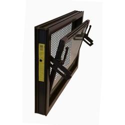 ACO Severin Ahlmann GmbH & Co. KG Kellerfenster ACO 90x60cm Nebenraumfenster Einfachglas + Schutzgitter Kippfenster Fenster braun, inkl. Schutzgitter mit einfacher Montage