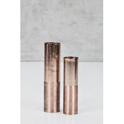 carla&marge Kerzenständer Abaniola (2er-Set), aus kupferfarbenem Aluminium