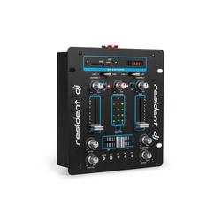 resident dj DJ-25 DJ-Mixer Mischpult Verstärker Bluetooth USB Party-Lautsprecher