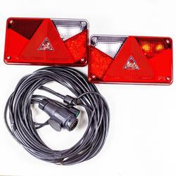 LED Rückleuchten-Set: Rückleuchten Aspöck Multipoint V LED + 7 m 7-poliger Kabelbaum