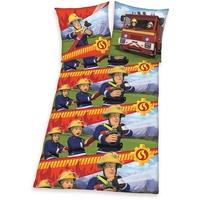 Herding Feuerwehrmann Sam Flanell bunt (135x200+80x80cm)