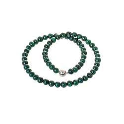 Bella Carina Perlenkette Malachit 8 mm, echtes Malachit 42 cm