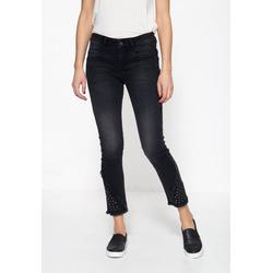 ATT Jeans 5-Pocket-Jeans Zoe cropped mit gekürzter Beinlänge und Nieten 42